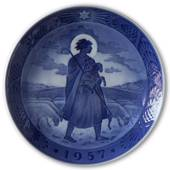 Shepherd with his herd 1957, Royal Copenhagen Christmas plate
