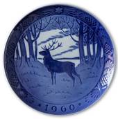 Stag in the forest 1960, Royal Copenhagen Christmas plate