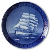 The training ship Danmark 1961, Royal Copenhagen Christmas plate