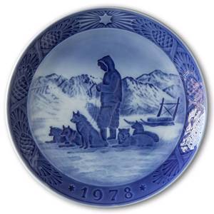 Greenlandic Scenery 1978, Royal Copenhagen Christmas plate | Year 1978 | No. RX1978 | Alt. 1901078 | DPH Trading