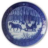 Jingle Bells 1984, Royal Copenhagen Christmas plate