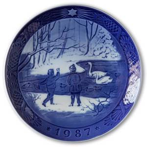Winter Birds 1987, Royal Copenhagen Christmas plate