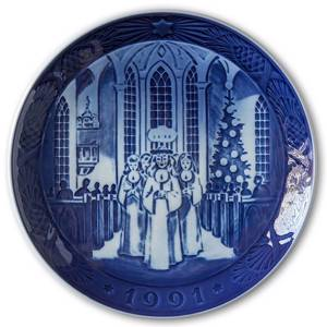 Feast of Saint Lucy 1991, Royal Copenhagen Christmas plate | Year 1991 | No. RX1991 | Alt. 1901091 | DPH Trading