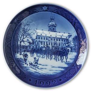 The Royal Coach 1992, Royal Copenhagen Christmas plate