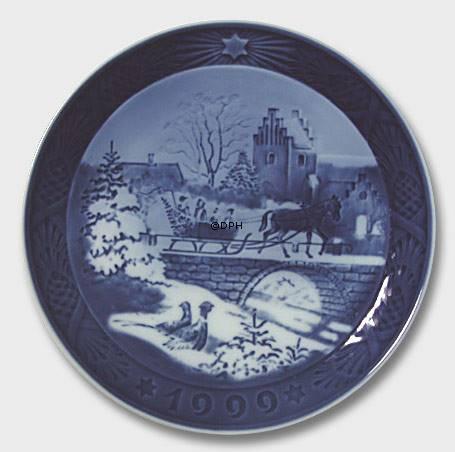 1999 royal copenhagen christmas plate italian - Royal Copenhagen Christmas Plates