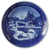 The Sleigh Ride 1999, Royal Copenhagen Christmas plate