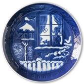 Watching the Birds 2001, Royal Copenhagen Christmas plate