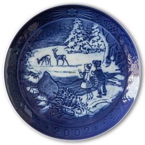 The Forest in Winter 2002, Royal Copenhagen Christmas plate | Year 2002 | No. RX2002 | Alt. 1901102 | DPH Trading