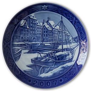 Christmas in Nyhavn 2007, Royal Copenhagen Christmas plate | Year 2007 | No. RX2007 | Alt. 1901107 | DPH Trading