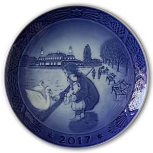 By the lakes 2017, Royal Copenhagen Christmas plate | Year 2017 | No. RX2017 | Alt. 1021105 | DPH Trading