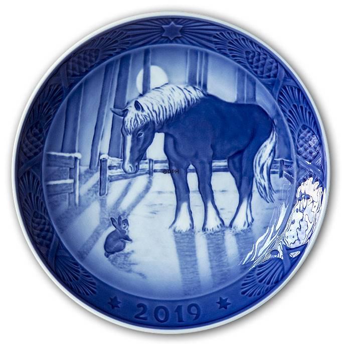 Royal Copenhagen Christmas Plates.Meeting In The Field 2019 Royal Copenhagen Christmas Plate