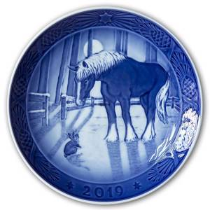 Meeting in the field, 2019 Royal Copenhagen Christmas plate | Year 2019 | No. RX2019 | Alt. 1027165 | DPH Trading