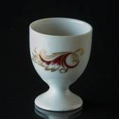 Eggcup white with bordeaux and gold decoration