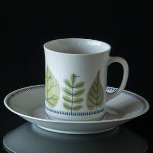 Karlskrona Sylvia coffee set, cup with saucer