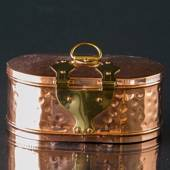 Storage box in copper (brass)