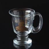 Glass Mug from KostaBoda with motif of Gustav Vasa 1523-1560