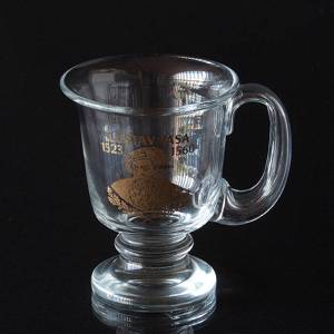 Glass Mug from KostaBoda with motif of Gustav Vasa 1523-1560 | No. S1092 | DPH Trading