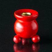 Red Wood Candleholder, small