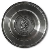 Scandia Pewter Louise 1889-1965 Queen of Sweden plate