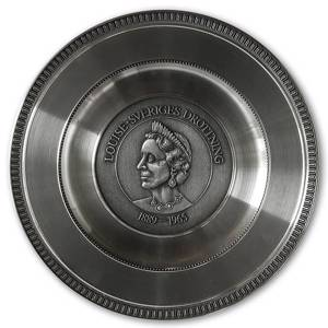Scandia Pewter Louise 1889-1965 Queen of Sweden plate | No. SC1004 | DPH Trading