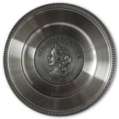 Scandia Pewter Sofia 1836-1913 Queen of Sweden plate