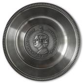 Scandia Pewter Carl XVI Gustaf 1973 King of Sweden plate