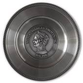 Scandia Pewter Silvia 19/6 1976 Queen of Sweden plate