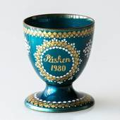1980 Steinböck Easter egg cup, Turquoise
