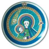 1976 Steinböck 5 years anniversary plate, Madonna with child, Enamel