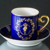 Hackefors Cobalt Blue Royal Cup Oscar I 1799-1859 Truth and Justice
