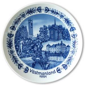 1991 Seltmann Swedish Landscape Plate, Västmanland | Year 1991 | No. TO1991 | DPH Trading