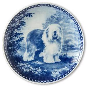 Tove Svendsen Dog plate, Old English Sheepdog