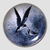 Tove Svendsen, Bird plate Swallow 1981