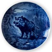 1981 Tove Svendsen, Hunting plate, animal