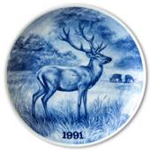 1991 Tove Svendsen, Hunting plate, Red deer