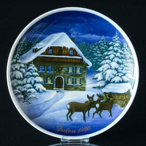 1986 Tettau traditional Christmas plate | Year 1986 | No. TX1986 | DPH Trading