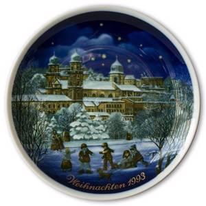1993 Tettau traditional Christmas plate with German text (Weihnachten) | Year 1993 | No. TX1993-W | DPH Trading