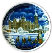 1996 Tettau traditional Christmas plate with Gernan text (Weihnachten)