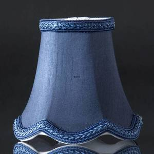 Hexagonal lampshade with curves height 12 cm, dark blue silk fabric | No. U120712U6000R | DPH Trading