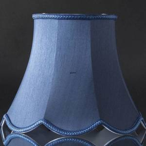 Octagonal lampshade with curves height 22 cm, dark blue silk fabric | No. U221627A6000R | DPH Trading