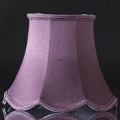 Octagonal lampshade with curves height 24 cm, purple/dark rose coloured sil...