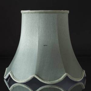Octagonal lampshade with curves height 32 cm, light petrol green coloured silk fabric | No. U322340A0300R | DPH Trading