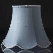 Octagonal lampshade with curves height 32 cm, light blue silk fabric