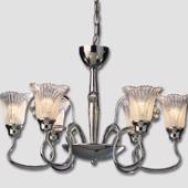 Rose 6-arm Chromium Chandelier with Crystals