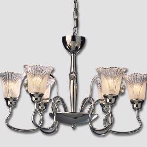 Rose 6-arm Chromium Chandelier with Crystals | No. WL6118-6 | DPH Trading