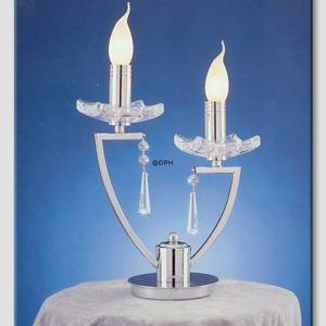 Queen Chromium Double Lamp with Crystals | No. WL6496-2 | DPH Trading