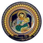 Bjorn Wiinblad Christmas plate 1971 Mary with baby Jesus