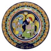 Bjorn Wiinblad Christmas plate 1975 Annunciation to the blessed Virgin Mary