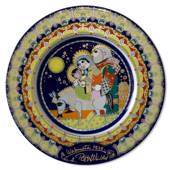 Bjorn Wiinblad Christmas plate 1979 The flight to Egypt