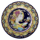 Bjorn Wiinblad Christmas plate 1980 Angel with Bells